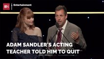 Adam Sandler Didn't Listen To His Acting Teacher