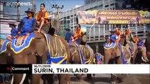 شاهد: عشرات آلاف الأشخاص يزورون تايلاند لحضور مأدبة الفيل