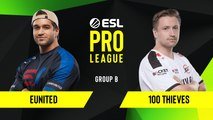 CSGO - 100 Thieves vs. eUnited [Mirage] Map 2 - Group B - ESL NA Pro League Season 10