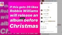 Robbie Williams a hâte de retourner se produire à Las Vegas