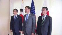 한미일 3국 국방장관 회담 종료...'지소미아' 집중 논의 / YTN