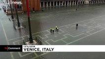 İtalya'nın Venedik şehrinde su seviyesi yeniden yükseldi