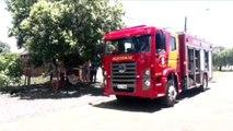 Bombeiros retornam a imóvel que pegou fogo no Bairro Neva