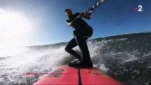 Sport : une surfeuse française dompte une vague de plus de 20 mètres