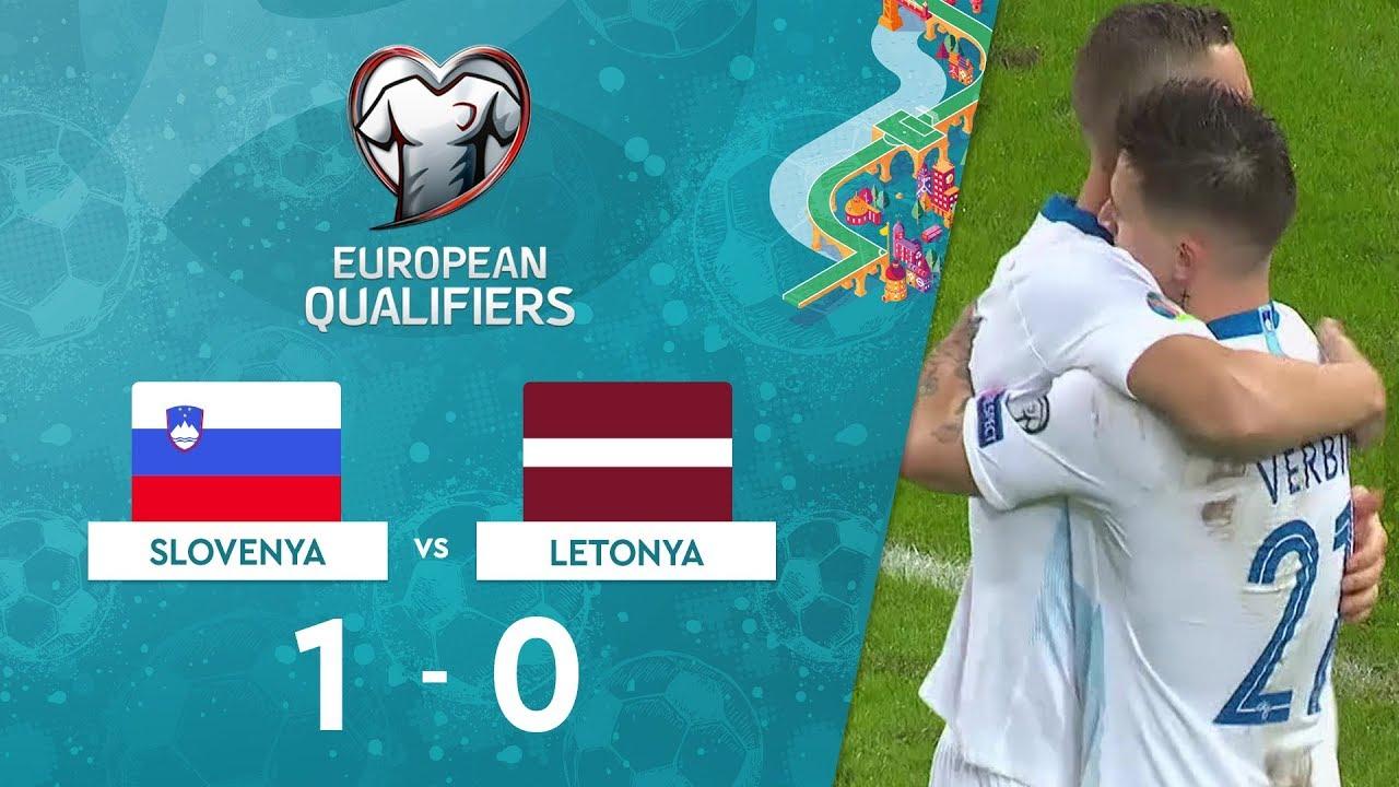 Slovenya  1-0 Letonya | EURO 2020 Elemeleri Maç Özeti - G Grubu