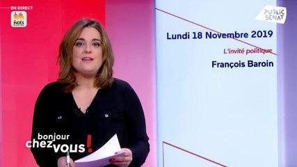 François Baroin - Bonjour chez vous ! (Public Sénat) - Lundi 18 novembre