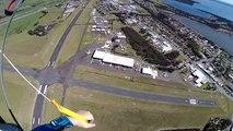 Skydiver lands on moving motorbike during stunt in Australia
