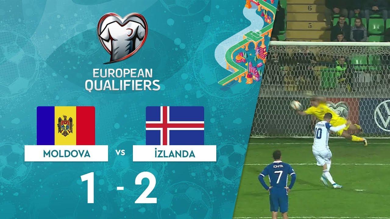 Moldova 1 - 2 İzlanda | EURO 2020 Elemeleri Maç Özeti - H Grubu