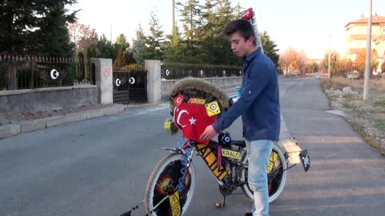 """Liseli Muhammed Emin'in """"sıra dışı"""" bisikleti ilgi çekiyor - Dailymotion Video"""