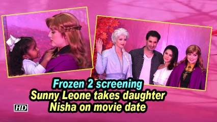 Frozen 2 screening | Sunny Leone takes daughter Nisha on movie date