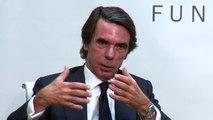 """Aznar: """"Que pueda llegar al gobierno un grupo que es la representación de aquellos que la OTAN ha derrotado nos tiene que poner en riesgo"""""""