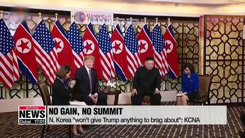"""North Korea """"not interested"""" in Trump's push for denuclearization deal without gains in return: KCNA"""