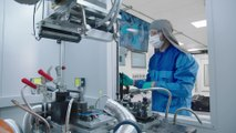 BMW Group Battery Cell Competence Center - Assembly of the battery cell and welding of the battery cell housing