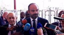 Déclaration d'Édouard Philippe à propos de la nouvelle ligne de TER à Dakar