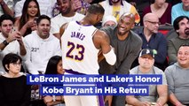LeBron James Honors Kobe Bryant