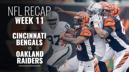 Week 11: Raiders Overtake the Bengals