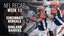 Week 11: Raiders Overtake the Bengals