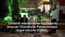Hong Kong: des ONG rencontrent des étudiants qui manifestent à l'Université Polytechnique