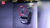 Otomobilin kundaklama anı güvenlik kamerasına yansıdı