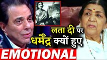 Legendary Actor Dharmendra Gets Emotional For Lata Mangeshkar