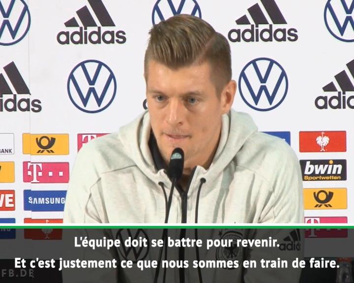 """Allemagne - Kroos : """"L'équipe doit se battre"""""""