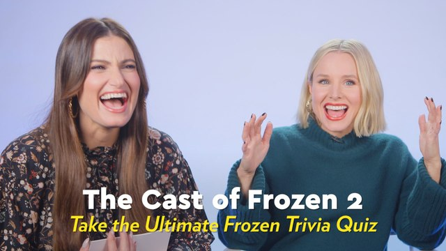 Kristen Bell, Idina Menzel, and the Frozen 2 Cast Hilariously Quiz Each Other on All Things Frozen