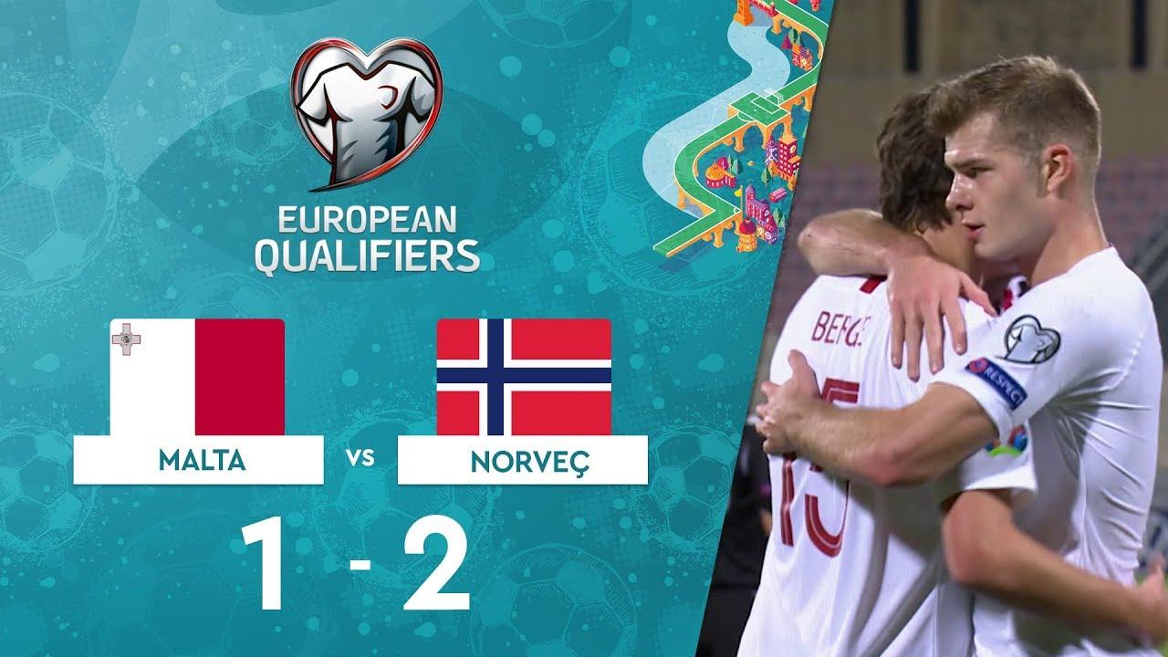 Malta 1-2 Norveç | EURO 2020 Elemeleri Maç Özeti - F Grubu