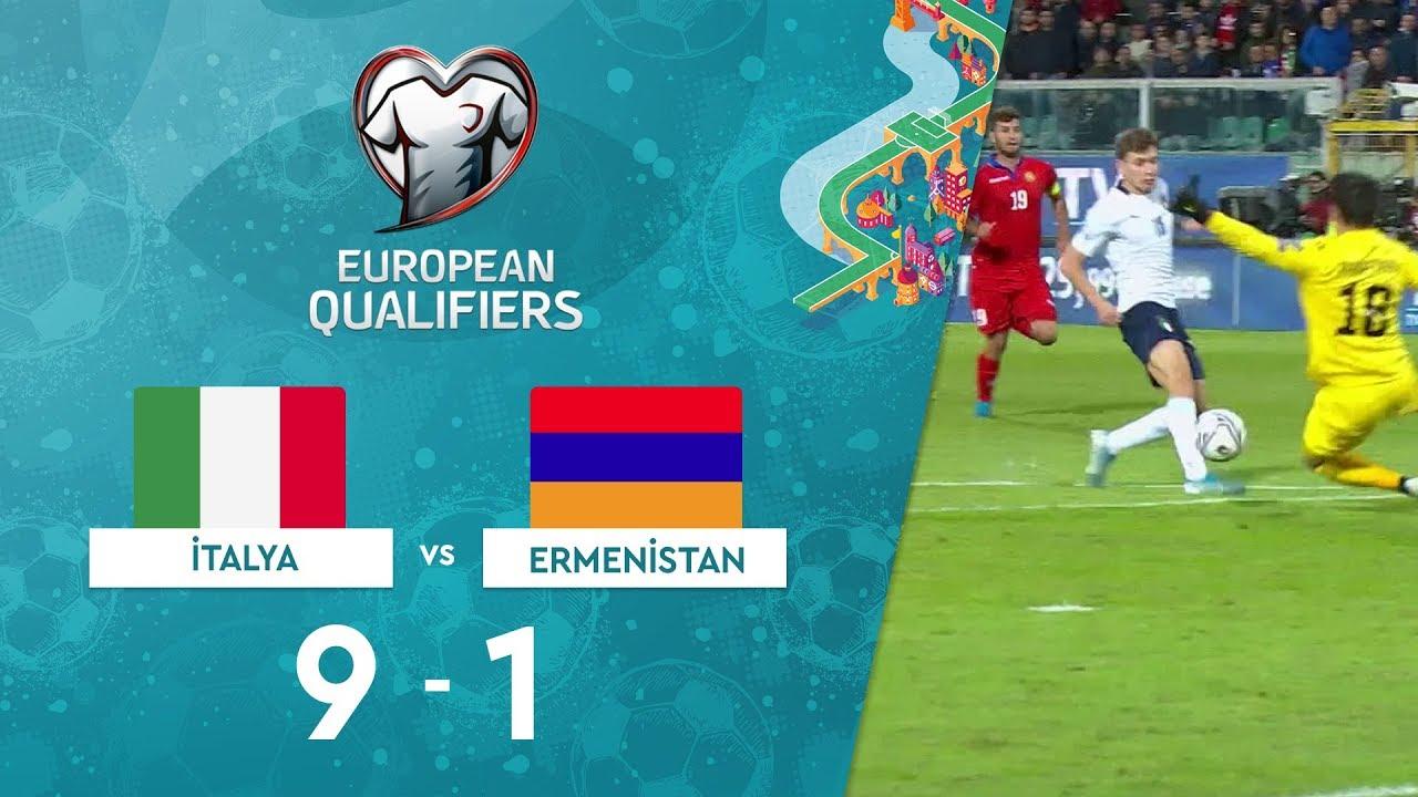 İtalya 9-1 Ermenistan | EURO 2020 Elemeleri Maç Özeti - J Grubu