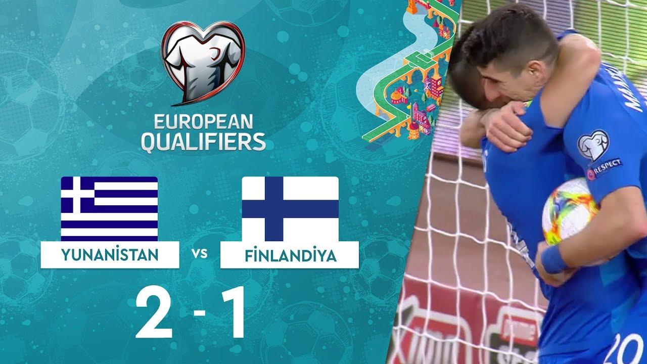 Yunanistan 2-1 Finladiya | EURO 2020 Elemeleri Maç Özeti - J Grubu