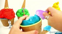 Learn Colors with Colorful Ice Cream Cones for Children, Toddlers and Babies   Play Doh Colours Kids