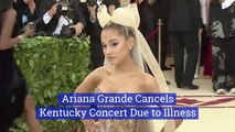 Ariana Grande Is Sick