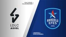 LDLC ASVEL Villeurbanne - Anadolu Efes Istanbul Highlights  Turkish Airlines EuroLeague, RS Round 9