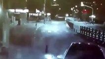 Muğla uyuya kalan sürücü aydınlatma direğine çarptı
