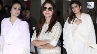 Bollywood Celebs Attend The Prayer Meet Of Manish Malhotra's Father