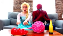 Spiderman, Frozen Elsa vs Joker! fun lollipops game, funniest moments