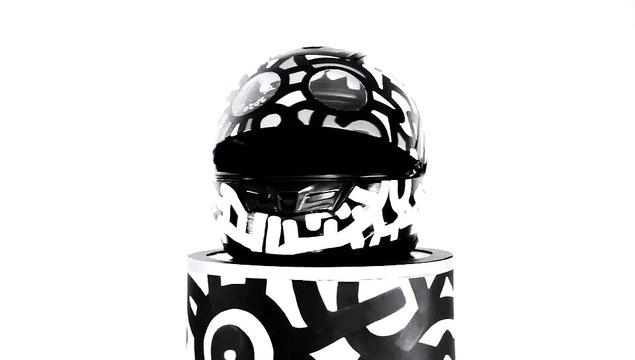 """"""" MOTORCYCLE HELMET """" B&W JAK ARNOULD ©ADAGP"""