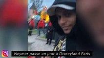 Neymar passe un jour à Disneyland Paris