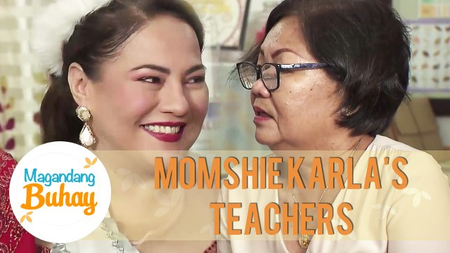 Teacher Erlinda shares that Momshie Karla is very active in her school back then | Magandang Buhay