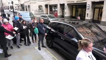 Rare outing for Elton John as he arrives at book signing in Piccadilly Circus, London