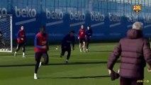 Barça : Le slalom de Dembélé à l'entraînement !