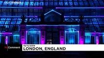 Les jardins de Kew, à Londres, s'illuminent pour Noël