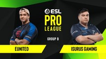 CSGO - Isurus Gaming vs. eUnited [Nuke] Map 2 - Group B - ESL NA Pro League Season 10