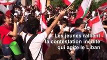 Au Liban, la jeunesse réclame le droit à un avenir meilleur, au pays