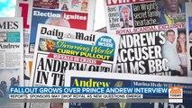 """Suite à son interview calamiteuse à la télévision britannique sur l'affaire Epstein, le prince Andrew """"met fin à ses engagements publics"""""""