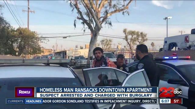 Homeless man ransacks Downtown Bakersfield apartment