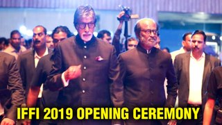 IFFI 2019 Goa   Amitabh Bachchan And Superstar Rajinikanth At The Opening Ceremony