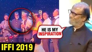 IFFI 2019 Goa   Superstar Rajinikanth PRAISES Amitabh Bachchan With Karan Johar   EXCLUSIVE