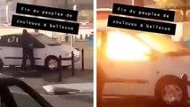 Il met le feu à la voiture transpercée par un arbre à Nantes