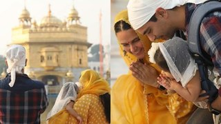 Neha Dhupia, Angad Bedi Spotted At The Golden Temple, 1-Yr-Old Mehr Offers Prayers With Folded Hands