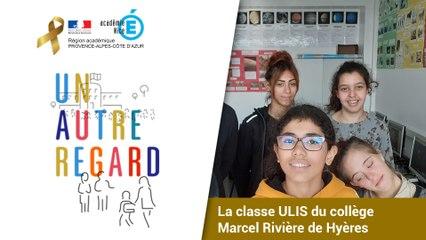 #UnAutreRegard avec la classe ULIS du collège Marcel Rivière de Hyères